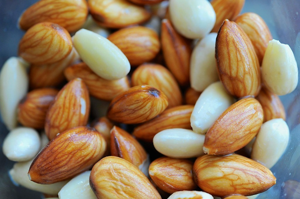 Soaked almonds, ready for sprouting. Photo copyright: David Morley ~ my fabulously talented cousin!